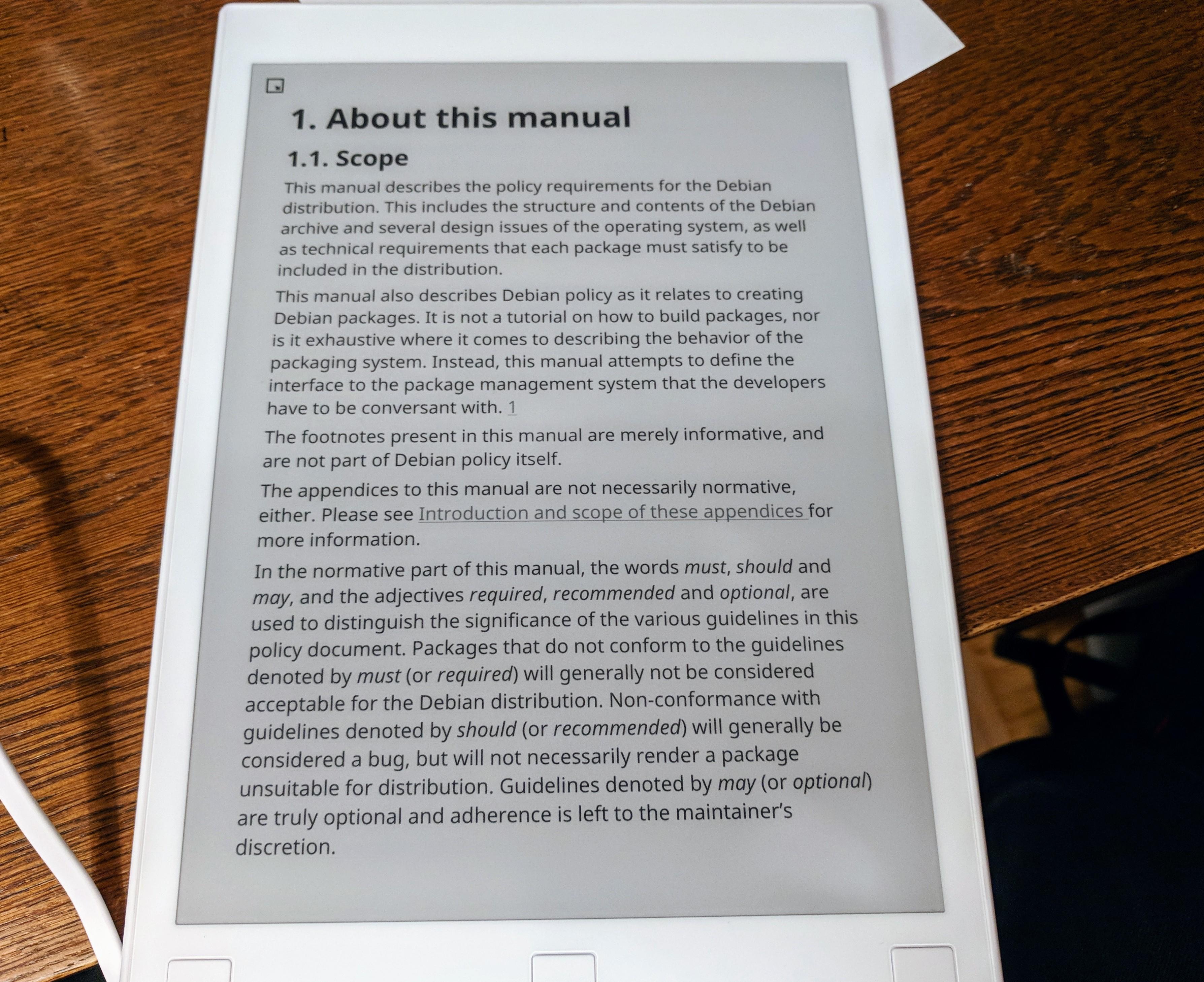 Debian Policy Manual